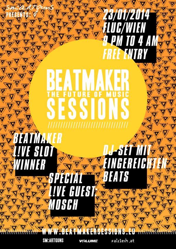 Beatmaker Sessions, 23.01.2014, Mosch, fluc, Wien, Vienna, Beatmaker, sm:artguns